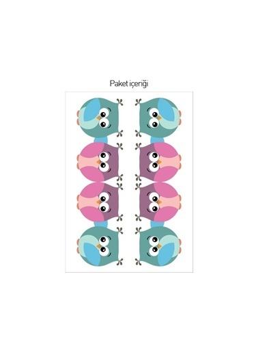Disney Baykuş Çift Priz Sticker Renkli